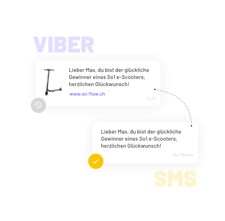 Viber-to-SMS