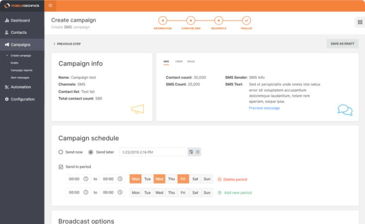 Kampagnen-Editor Dashboard