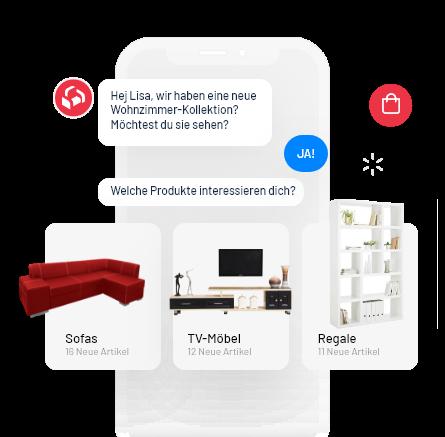 Messenger UI Antwortvorlagen