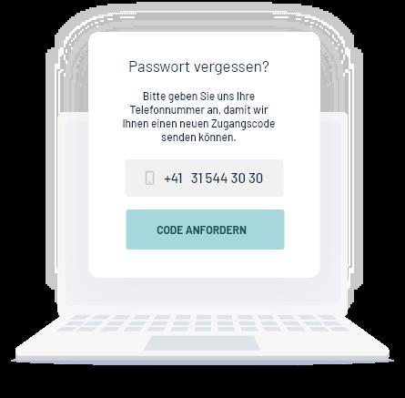 Passwort Wiederherstellung per SMS