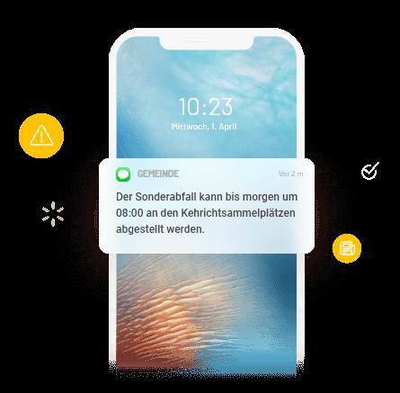 Wichtige SMS-Miteilungen der Gemeinde