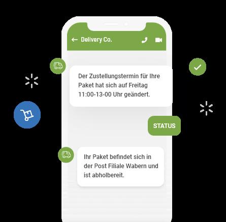 2-Wege-SMS - Sendungsverfolgung