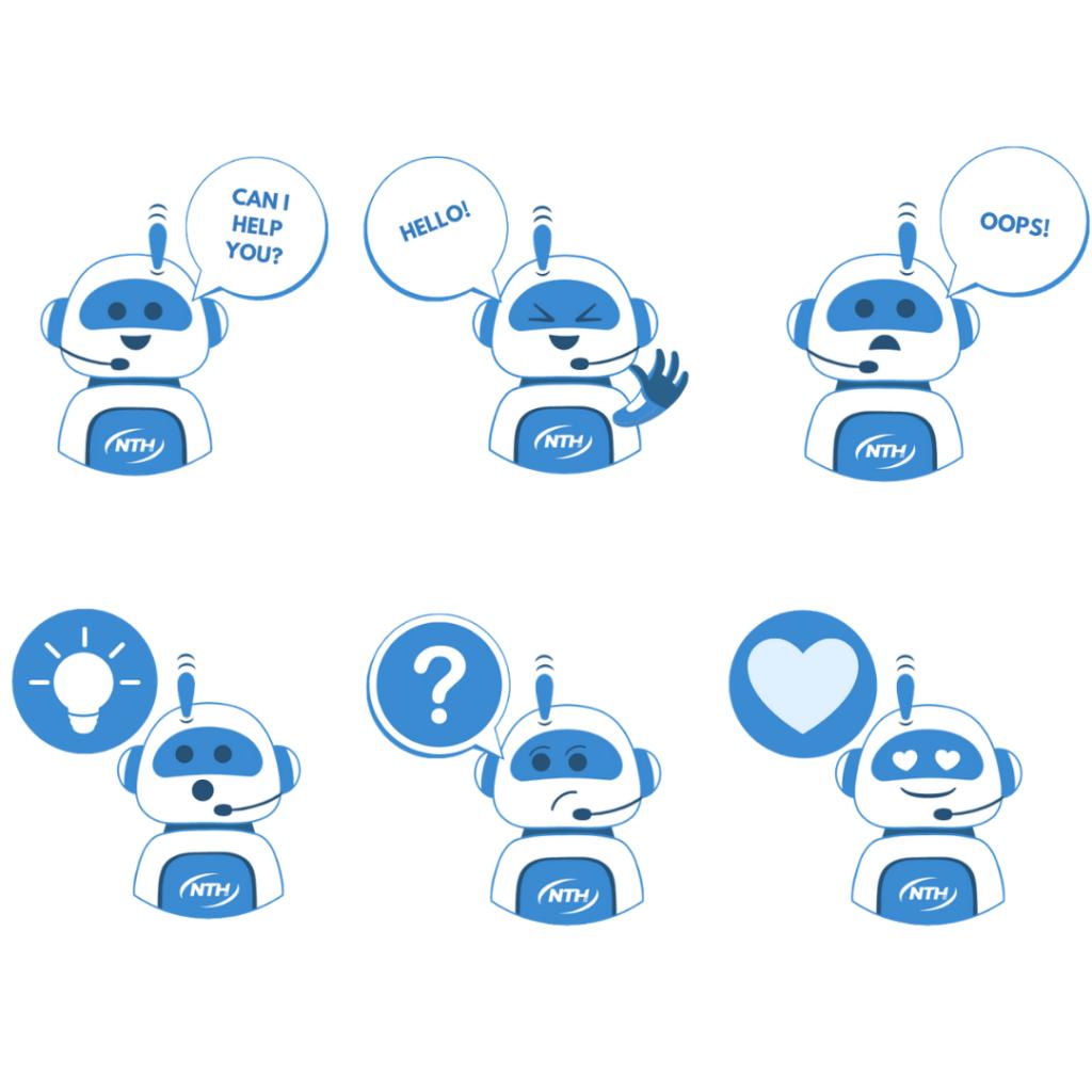 Beispiel für markengebrandete Telegram-Stickers